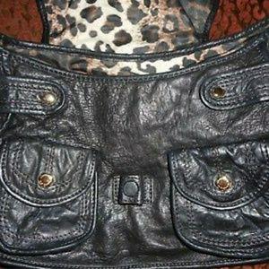Gianni Bini Bags - Gianni Bini Black Soft Leather Flap Shoulde